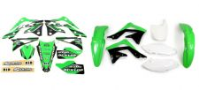 New KXF 450 2012 12 PTS4 Graphics Sticker Plastic Kit Green Plastics KXF450